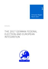 Schuman Papers 1/2017 Saksan liittopäivävaaleihin liittyen julkaistu